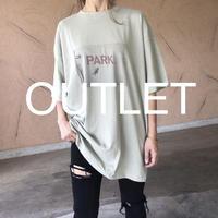 【訳ありOUTLET!】ユニセックス!バックラベル付プリントビッグtシャツ(2color)【クリックポスト対象商品】