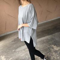 裾スリットオーバーサイズTシャツ(4color)【クリックポスト対象商品】