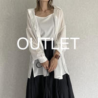 【OUTLET】シアービッグシャツキャミSET(オフ)
