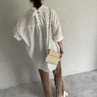 バックレースアップシャツ(2color)