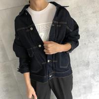 大人な抜け感ゆるデニムジャケット(2color)
