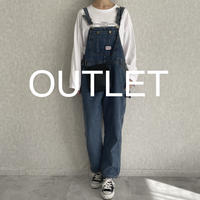 【OUTLET】used風デニムサロペット