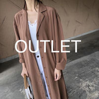 【OUTLET】ウエストリボン付き!開襟ゆったりシャツワンピース【クリックポスト対象商品】