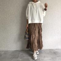 ワッシャーアシンメトリーロングスカート (3color)【クリックポスト対象商品】