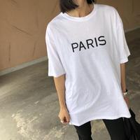 ゆるっとオーバーサイズ!両面ロゴシンプルTシャツ(2color)【クリックポスト対象商品】