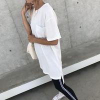 再入荷!シンプルロングTシャツ/チュニック(3color)【クリックポスト対象商品】