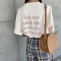 バックカラーロゴTシャツ(3color)