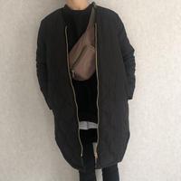きれいめにもカジュアルにも!裾ラウンドデザイン中綿キルティングコート(2color)