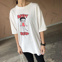 ゆったりサイズ!BETTY BOOPネオンビッグTシャツ(2color)【クリックポスト】
