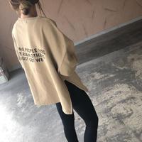 サイドジッパーデザイン!バックプリント裏起毛トレーナー(3color)【クリックポスト対象商品】