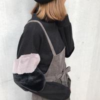 2色袖フェイクファースリーブ/プチハイネック(4color)