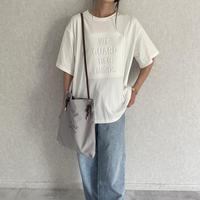 シンプルエンボスTシャツ(2color)