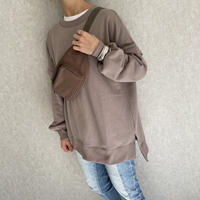 【2021ss】ゆる可愛いボリューム袖!裏起毛ビッグシルエットスウェット(2color)