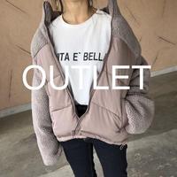 【OUTLET】大人カジュアル!ボア切替デザイン中綿ダウン