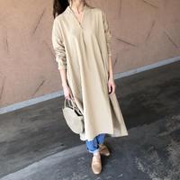 再入荷!ストライプスキッパーロングシャツ ワンピース(2color)【クリックポスト対象商品】