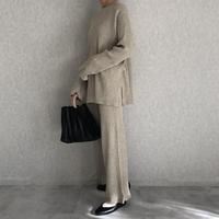 別々でも着用可能大人リラックススタイル!リブニットセットアップ(2color)