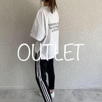 【OUTLET】ヘビーウェイトポケット付バックロゴTシャツ(ホワイト、ブラック)