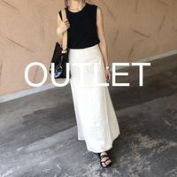 【OUTLET】リネンブレンドフレアロングスカート 【クリックポスト対象商品】