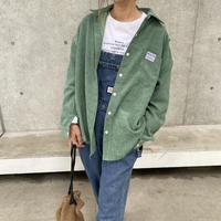 オーバーサイズコーデュロイシャツ(3color)