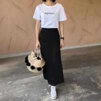 大人スカートスタイル!シンプルリネンブレンドロングスカート (3color)【クリックポスト対象商品】