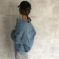 再入荷!大人な抜け感ゆるデニムジャケット(2color)