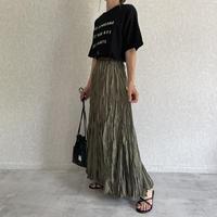 ワッシャーアシンメトリーロングスカート (3color)