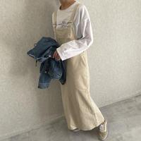 バック裾スリット!美シルエットコーデュロイジャンスカ(2color)【クリックポスト対象商品】