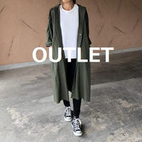【OUTLET】ゆるカジュアル!ビッグシルエットミリタリーロングコート