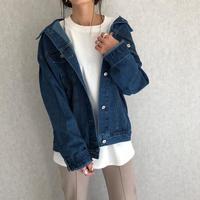 【2021ss】オーバーサイズデニムジャケット(2color)