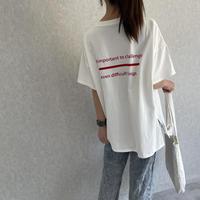バックカラーロゴプリントTシャツ(3color)