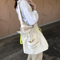 ロゴポケット巾着トートバッグ(2color)【クリックポスト対象商品】