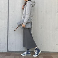 柔らかリブニット8分丈ワイドパンツ(3color)【クリックポスト対象商品】
