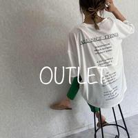 【OUTLET】レタリングバックプリントTシャツ(オフホワイト)