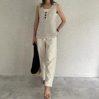 ざっくり編みノースリーブ(3color)