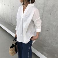 再入荷!オーバーサイズ!シンプルスキッパーシャツ(3color)【クリックポスト対象商品】
