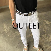 【OUTLET】程よいゆる感!リラックスチノパンツ(ホワイト)【クリックポスト対象商品】