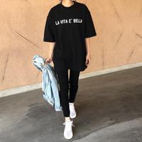 ビッグシルエット!ロゴロングtシャツ 【クリックポスト対象商品】