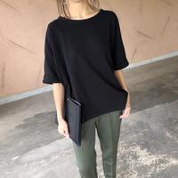 ワッフルドルマンオーバーサイズTシャツ(3color)【クリックポスト対象商品】