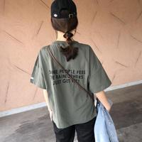 4月13日再入荷!大人気シリーズNEWカラー登場!ポケット付きバックロゴtシャツ (3color)【クリックポスト対象商品】
