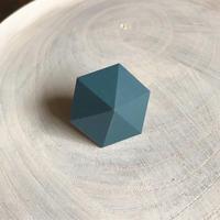 六角形イヤリング(ティールブルー)