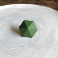 六角形イヤリング グリーン