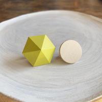 六角形&サークルイヤリング(セット) プリムローズイエロー/エッグシェル