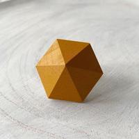 六角形イヤリング キャロット