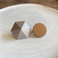 六角形&サークルイヤリング(セット) シルバー/ウォルナット