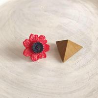 ダブルピアス ヴィンテージボタン×三角形(マスタードイエロー)