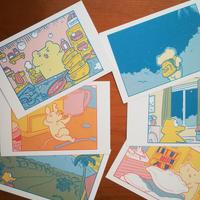 やじまけんじ個展「しんぱいなみらい」展示品 ポストカード6枚セット(310005280000)