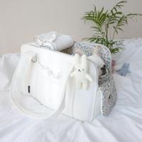new 2デザイン キューブフリルバッグ White2  S