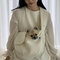 SEO_RU ネーム刺繍入り ベーシックキルティングスリングバッグ White M