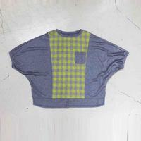 チェック柄  ジャカードTシャツ 2色