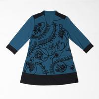 ドレープ素材 刺繍チュニック NO. 5202010A